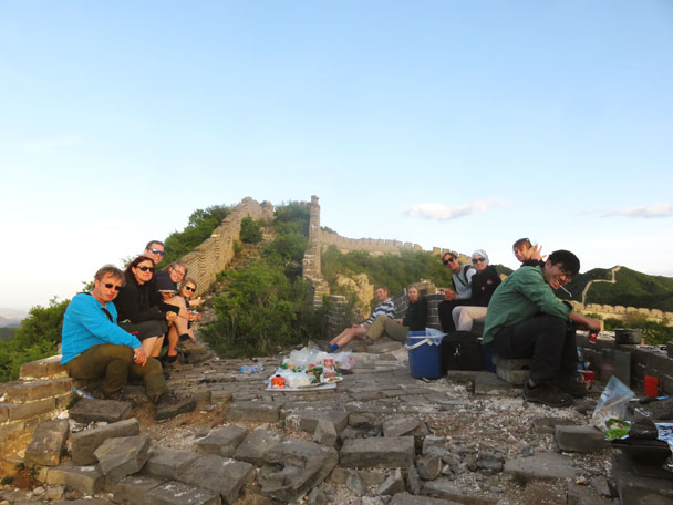 Dinner time - Switchback Great Wall Camping Trip, 2017/05/15