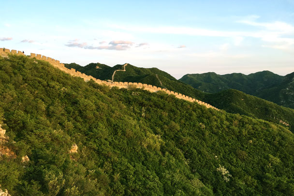 Some of the wall we hiked on the second day of the trip - Switchback Great Wall Camping Trip, 2017/05/15
