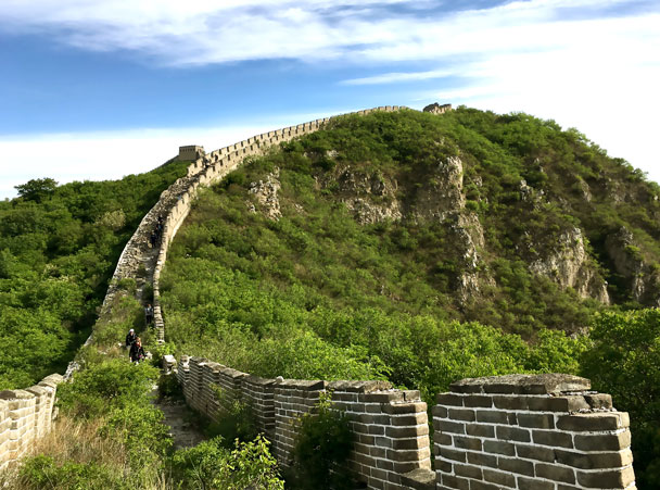 We hiked down this line of wall - Switchback Great Wall Camping Trip, 2017/05/15