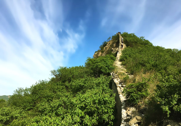 And we then hiked up this steep part - Switchback Great Wall Camping Trip, 2017/05/15