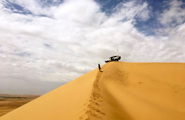 The drivers said this was the highest dune in the desert - Tengger Desert, Inner Mongolia, June 2017