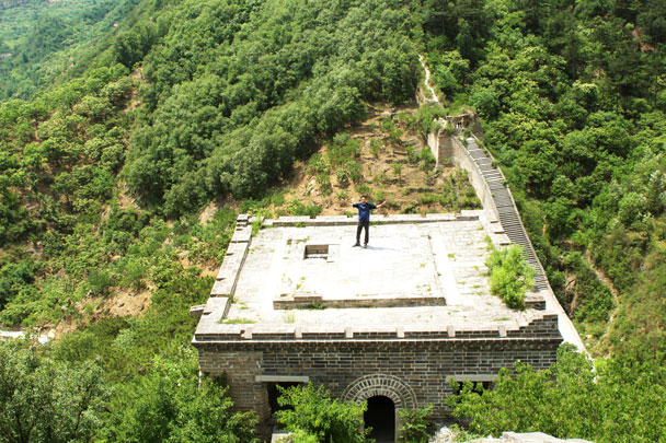On top of the tower - Walled Village to Huanghuacheng Great Wall, 2017/6/3