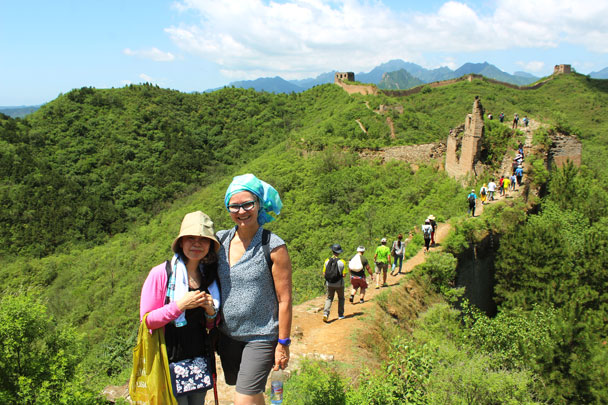 It was a very hot day on the Great Wall - Teambuilding for Merck with Great Wall hike and treasure hunt, 2017/7/7
