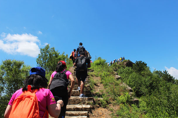 It was a big group of 40 hikers - Teambuilding for Merck with Great Wall hike and treasure hunt, 2017/7/7