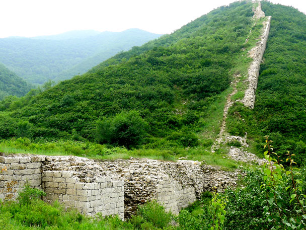 Some of the Great Wall in the area - Shuitou Village Loop hike, 2017/7/15