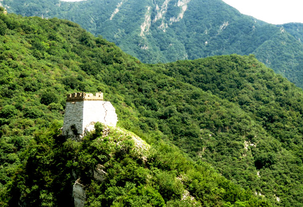 A tower with a tall foundation - Jiankou 'Big West' Great Wall, 2017/7/27