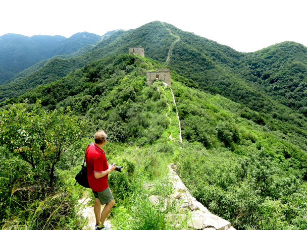 Looking back along the trail - Stone Valley Great Wall, 2017/7/29