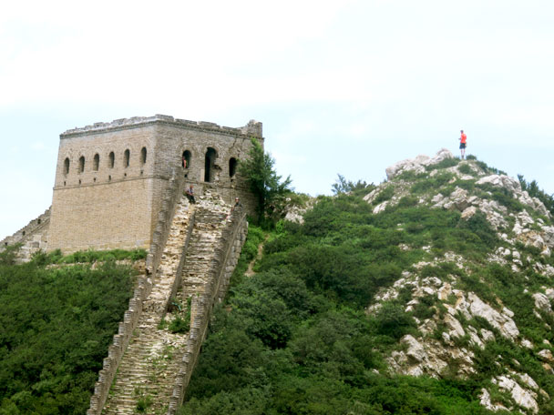 The General's Tower is impressive: mostly intact, and positioned on a high point in the hills - Stone Valley Great Wall, 2017/7/29