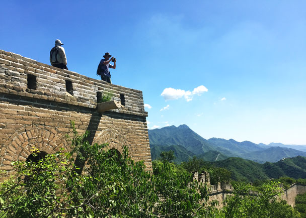 Great views from the top of a tower - Walled Village to Huanghuacheng Great Wall Hike, 2017/08/06