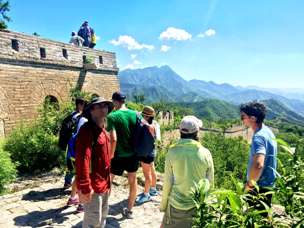 Everyone is up, and we're getting ready to continue the hike - Walled Village to Huanghuacheng Great Wall Hike, 2017/08/06