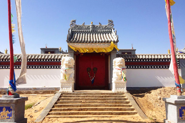 The temple in the desert - Alashan Desert Lakes and Temple, Inner Mongolia, 2017/10