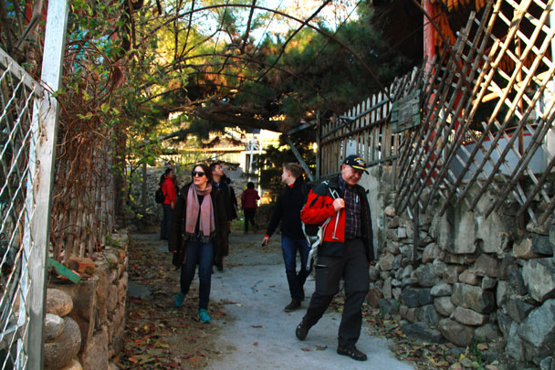 Walking out through Zhuangdaokou village - Danish Embassy Great Wall hike and team trip, 2017/07/11