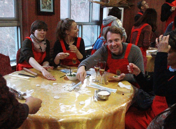 Time for the dumplings - Danish Embassy Great Wall hike and team trip, 2017/07/11