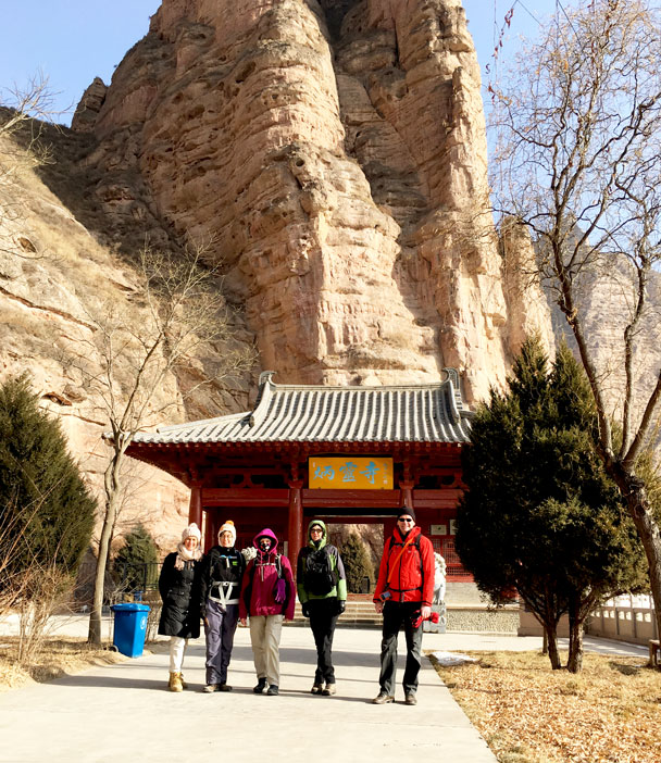 Group photo at the entrance. (MOVE THIS TO 14.) - Lanzhou Danxia Landform, Yellow River, and Bingling Temple, 2017/12