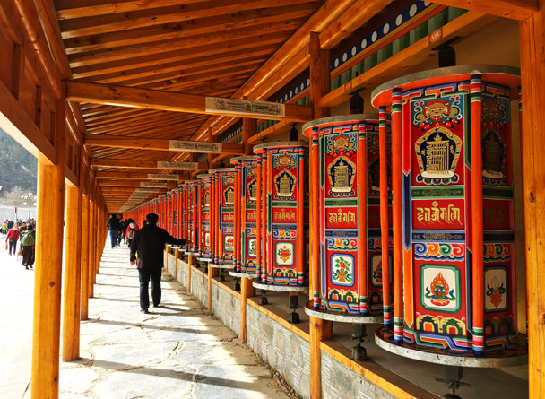 The prayer wheel corridor outside the monastery - Unveiling the Buddha at Labrang Monastery, 2018/02