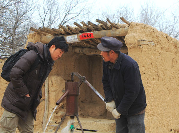 This is the only well for the whole village right now - Yu County overnight, March 2018