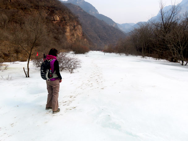 We hiked on the ice when possible - Yudu Mountains and Sujia River, 2018/03/03