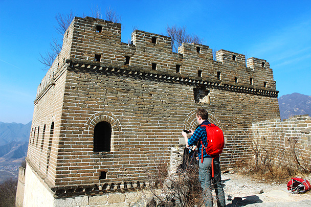 The first tower we passed on the hike - Chinese Knot Great Wall, 2018/03/10