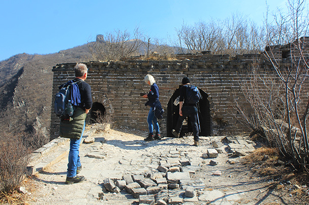 Most of this tower had collapsed - Chinese Knot Great Wall, 2018/03/10