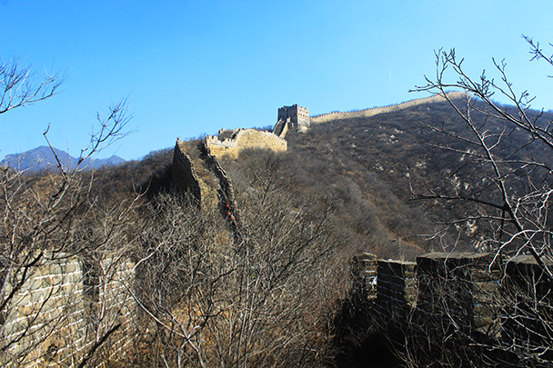 We were to hike up to the highest point in this photo - Chinese Knot Great Wall, 2018/03/10