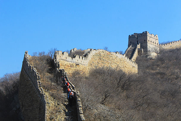 Nearing another tower - Chinese Knot Great Wall, 2018/03/10