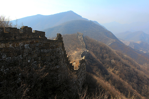 Looking back towards the first high point - Chinese Knot Great Wall, 2018/03/10