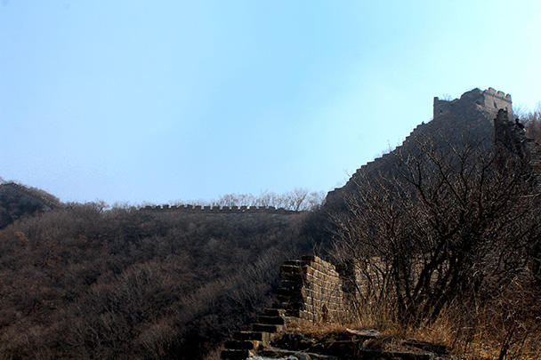 The wall, silhouetted - Chinese Knot Great Wall, 2018/03/10