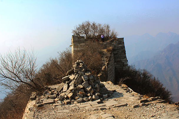 This tower was the highest point on the hike - Chinese Knot Great Wall, 2018/03/10