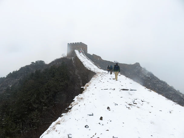 Snow covered the wall - Gubeikou to Jinshanling snow hike, 2018/03/17