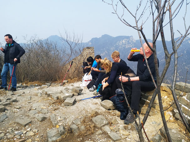 We stopped for a snack break at the highest point of the hike - Great Wall Spur hike, 2018/03/21