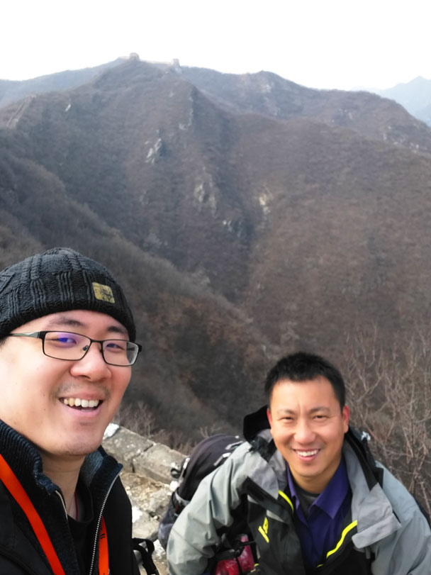 Guides Andy and Yang Sheng - Great Wall Spur hike, 2018/03/21