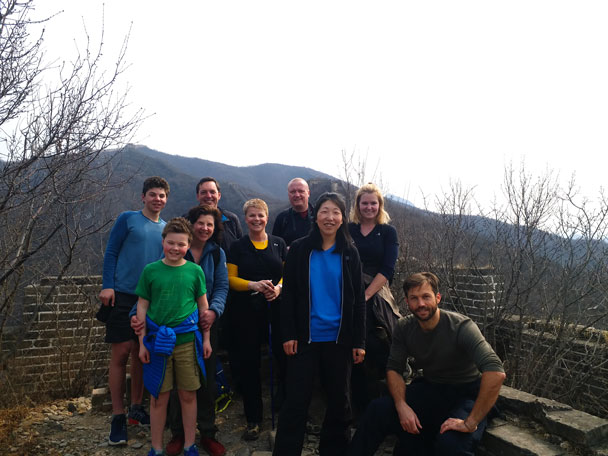 The hiking team - Great Wall Spur hike, 2018/03/21