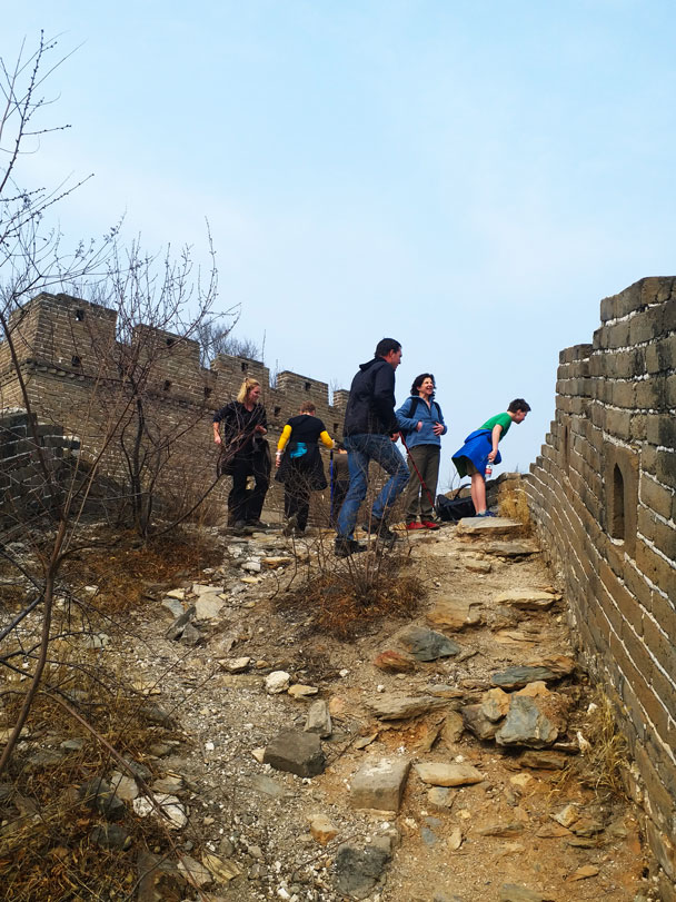 Time for a rest! - Great Wall Spur hike, 2018/03/21