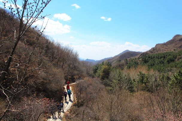 Blue skies - Girl Scouts hike at Changyucheng, 2018/04/14