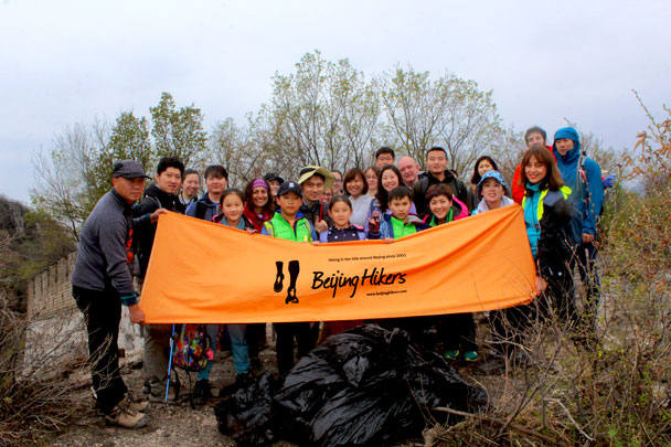 A good haul of trash - Earth Day clean up hike at the Jiankou Great Wall, 2018/04/22