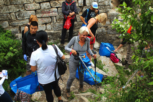 Up on to the Great Wall - Waste-Free Wall clean up hike with Gung Ho and Patagonia, 2018/06/03