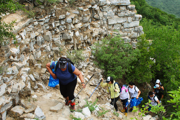 Back up on to the Great Wall - Waste-Free Wall clean up hike with Gung Ho and Patagonia, 2018/06/03