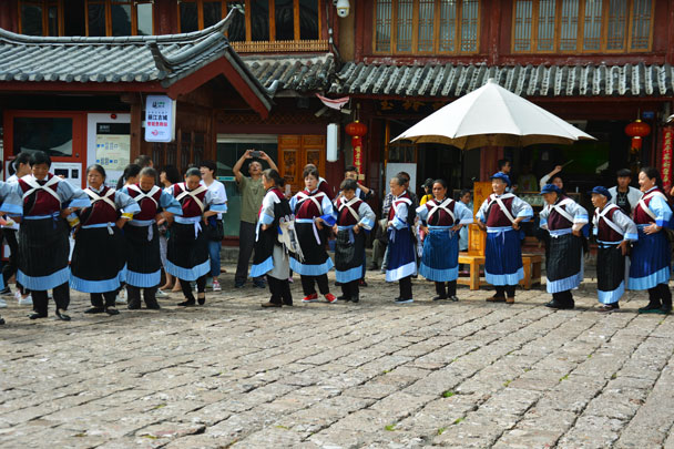 Traditional Naxi dance - Lijiang and Shangri-La, Yunnan Province, July 2018