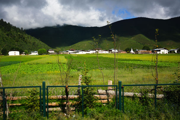 Pastoral village in Shangri-La - Lijiang and Shangri-La, Yunnan Province, July 2018