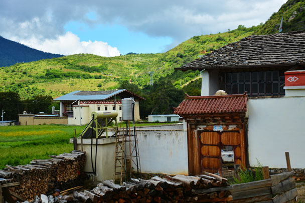 Peaceful countryside village in Shangri-La - Lijiang and Shangri-La, Yunnan Province, July 2018