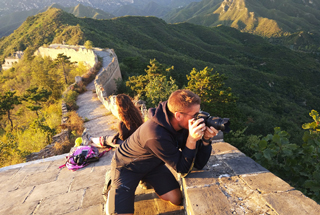 Sunset over the Huanghuacheng Great Wall, 2018/09/22