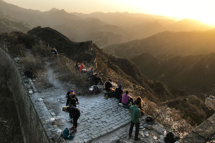 Sunset over the Huanghuacheng Great Wall, 2019/04/06 photo #14