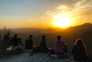 Sunset over the Huanghuacheng Great Wall, 2019/04/06