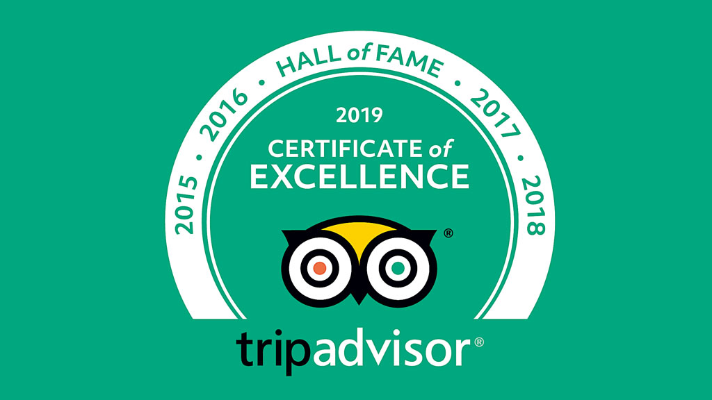 TripAdvisor Certificate of Excellence and Hall of Fame award for Beijing Hikers
