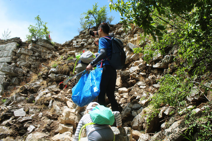Waste-Free Wall Clean up the Jiankou 'Big West' Great Wall, 2019/05/19 photo #14