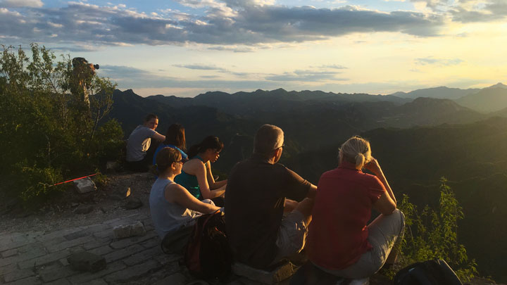 Sunset over the Huanghuacheng Great Wall, 2019/06/09