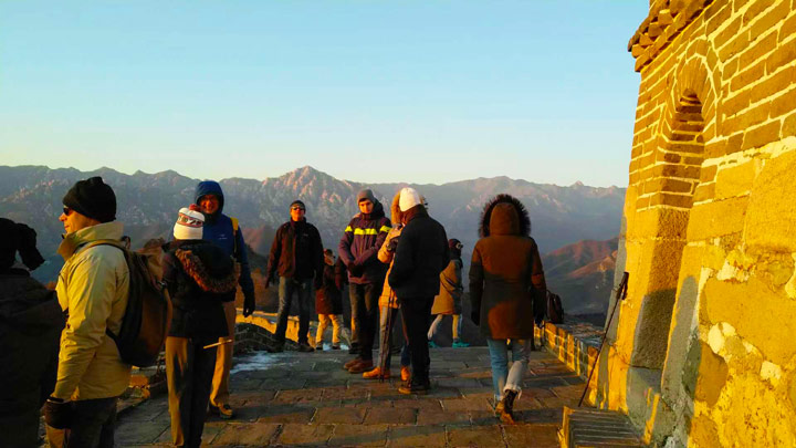 Sunset over the Huanghuacheng Great Wall, 2019/12/31