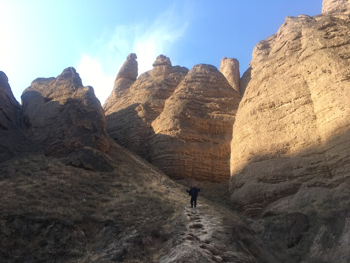 Lanzhou Danxia Landform, Yellow River Stone Forest, and Bingling Temple, Gansu Province, 2020/12 photo #14