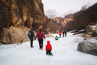 White River ice hike, 2021/01/23-24