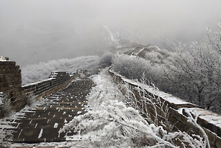 Snowy Badaling Ancient Great Wall, 2021/02/24